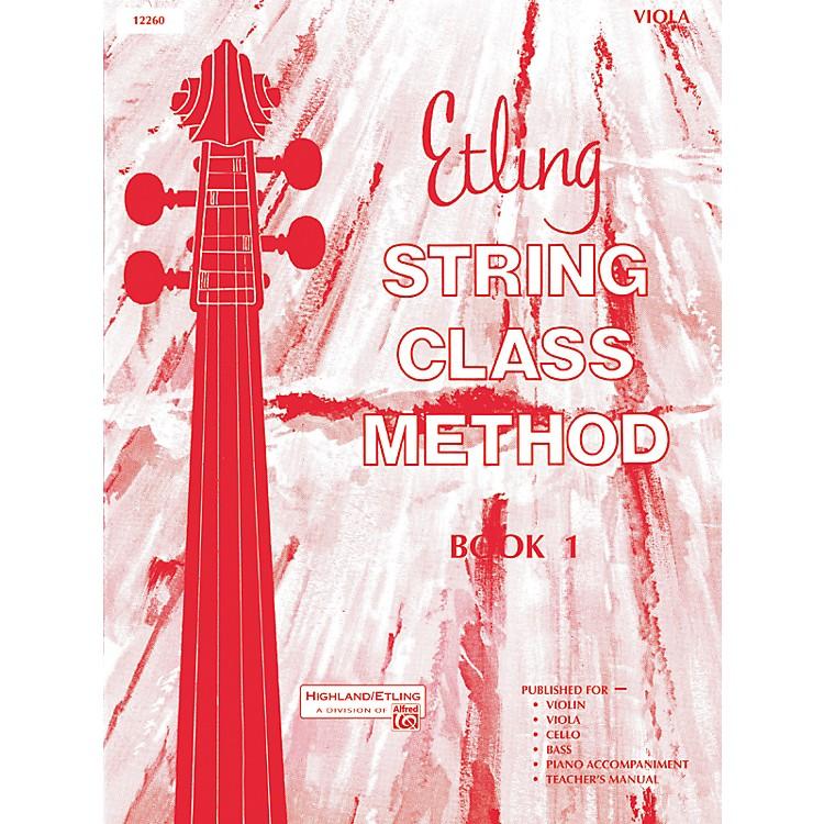 AlfredEtling String Class Method Book 1 Viola