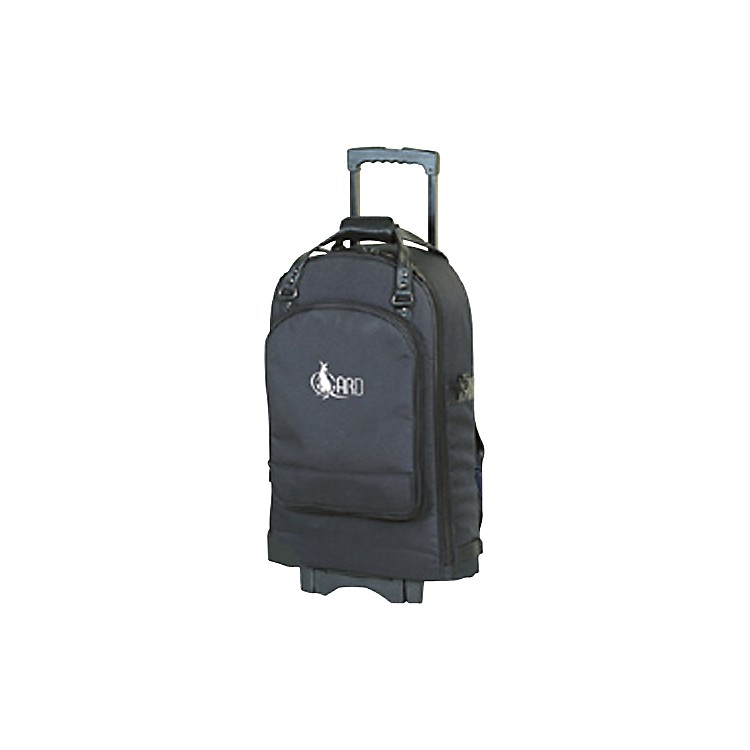 Allora Euphonium Wheelie Bag 52-WBFSK Black Gard Synthetic w/ Leather Trim