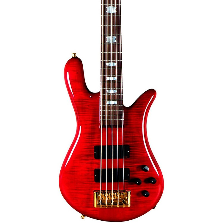 SpectorEuro 5 LX 5-String Bass GuitarBlack CherryGold Hardware