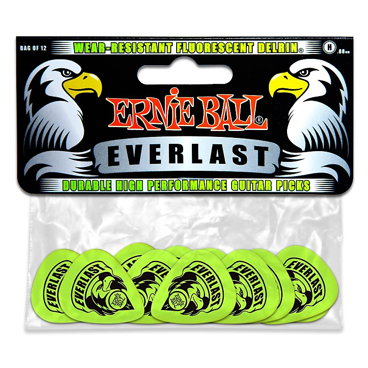 Ernie Ball Everlast Delrin Picks 12 Pack (Heavy) Heavy