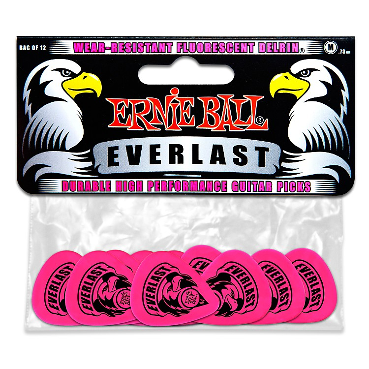 Ernie Ball Everlast Delrin Picks 12 Pack (Medium) Medium