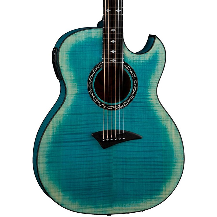 DeanExhibition Flame Maple Acoustic-Electric Guitar with Aphex