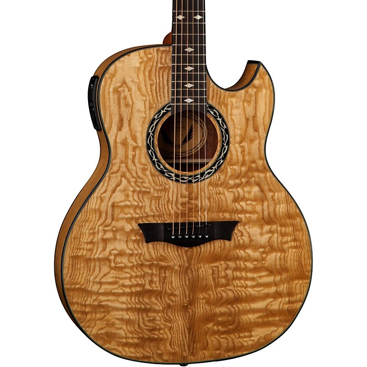 Dean Exhibition Quilt Ash Acoustic-Electric Guitar with Aphex Gloss Natural