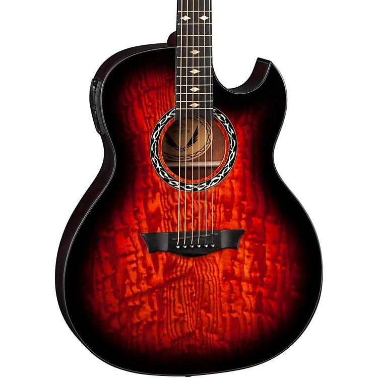 DeanExhibition Quilt Ash Acoustic-Electric Guitar with AphexTiger Eye