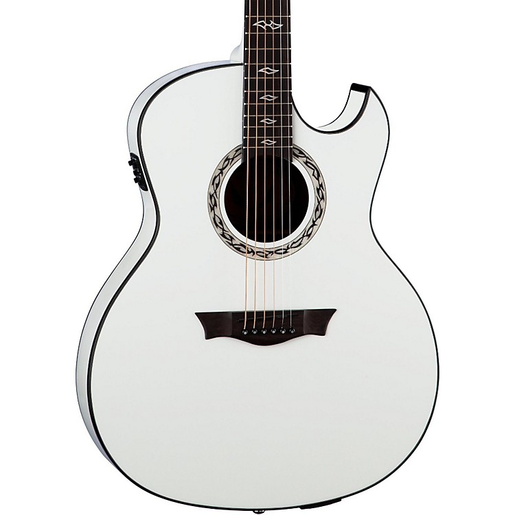 Dean Exhibition Ultra Acoustic-Electric with USB Classic White