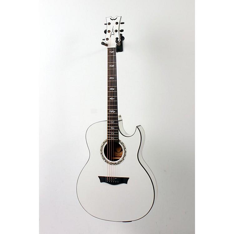 Dean Exhibition Ultra Classic Black Acoustic-Electric w/USB Classic White 886830818370