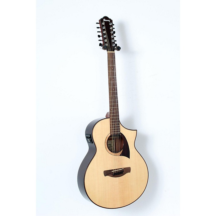 Ibanez Exotic Wood AEW2212CD-NT 12-String Acoustic-Electric Guitar Natural 888365906126