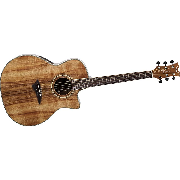 DeanExotica Koa Cutaway Acoustic-Electric Guitar
