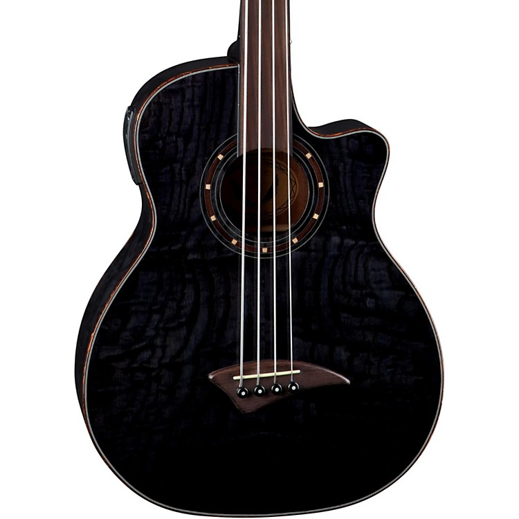 DeanExotica Quilt Fretless Acoustic-Electric Bass