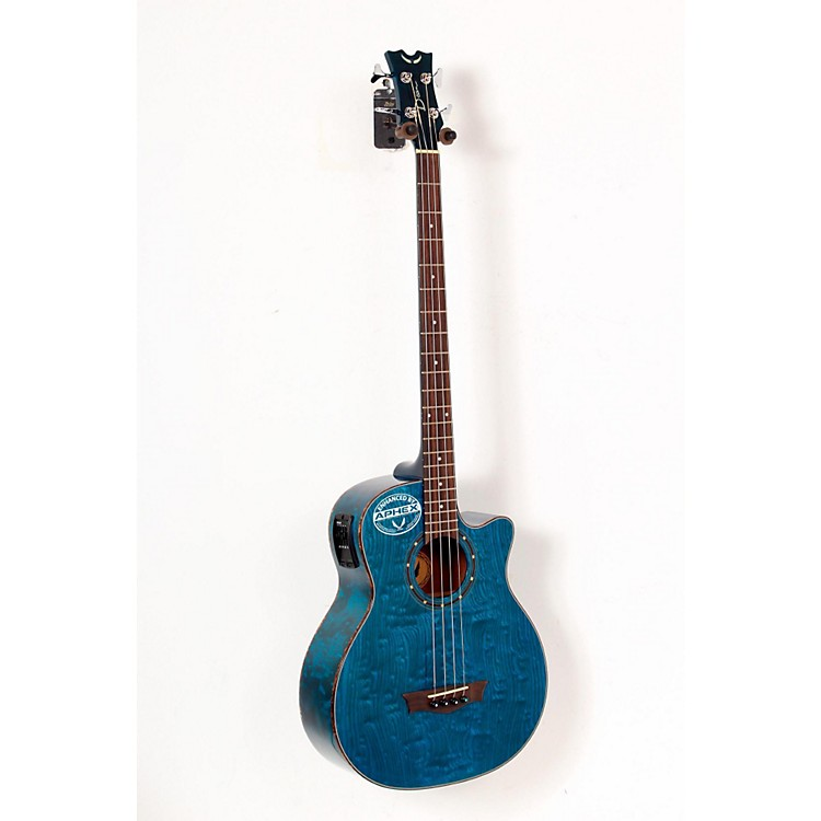 Dean Exotica Quilted Ash Acoustic-Electric Bass Guitar with Aphex Blue 888365208800