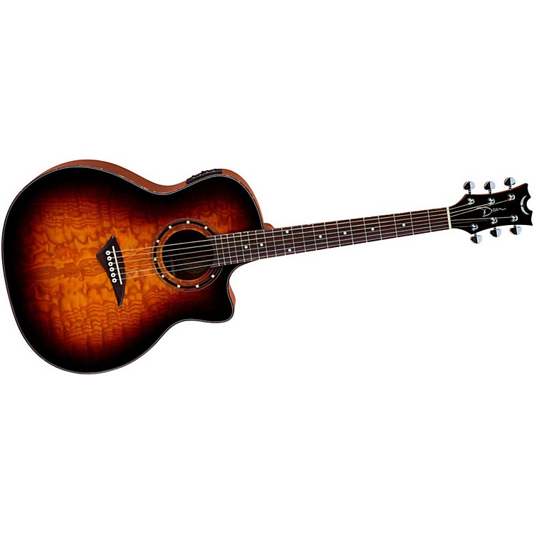 Dean Exotica Ultra Quilt Ash Acoustic-Electric Guitar Transparent Brazilia