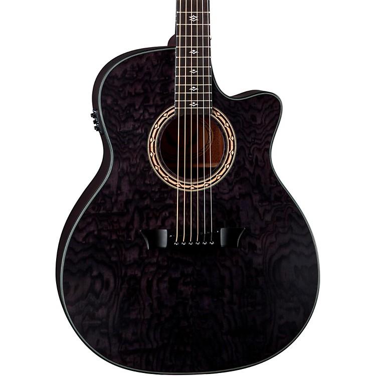 DeanExotica Ultra Quilt Ash Acoustic-Electric GuitarTransparent Black