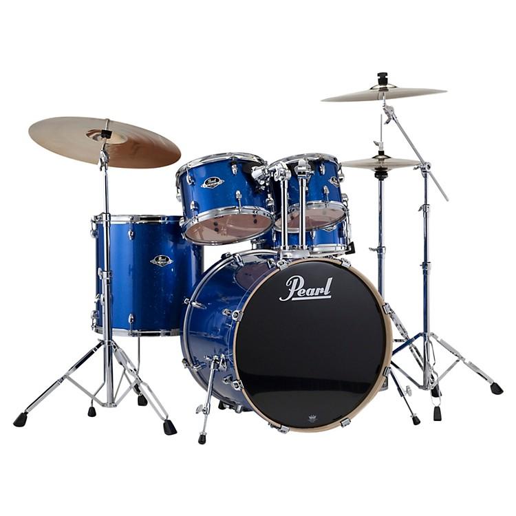 PearlExport Fusion 5-Piece Drum Set with HardwareElectric Blue Sparkle