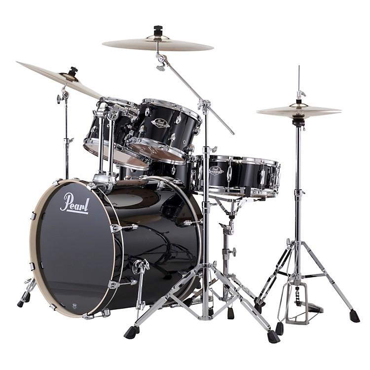 PearlExport Fusion 5-Piece Drum Set with HardwareJet Black