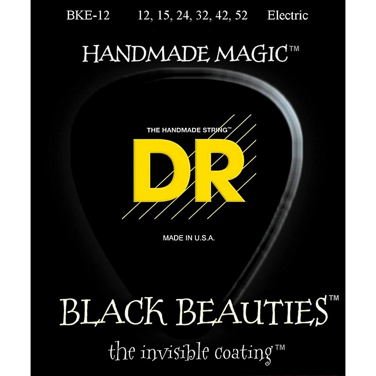 DR StringsExtra Life BKE-12 Black Beauties Extra Heavy Coated Electric Guitar Strings