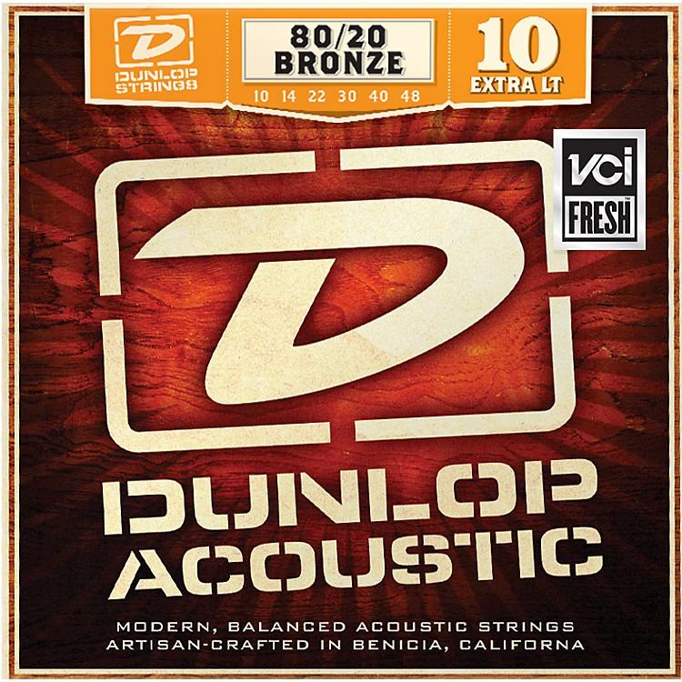 DunlopExtra Light 80/20 Bronze Acoustic Guitar Strings