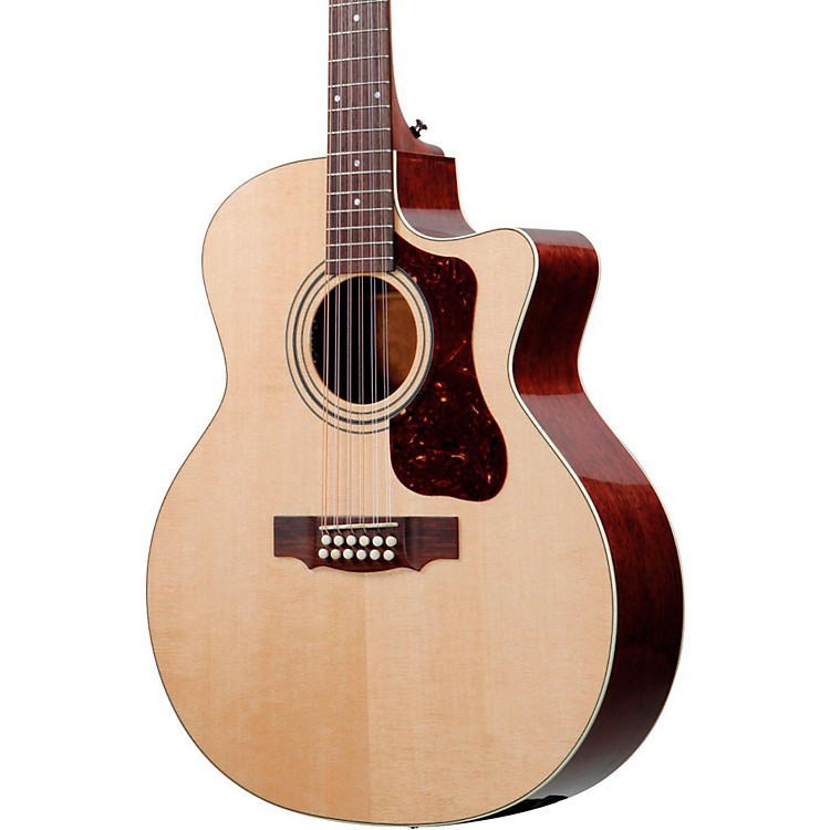 Guild F-212XLCE Standard 12-String Cutaway Acoustic-Electric Guitar Natural