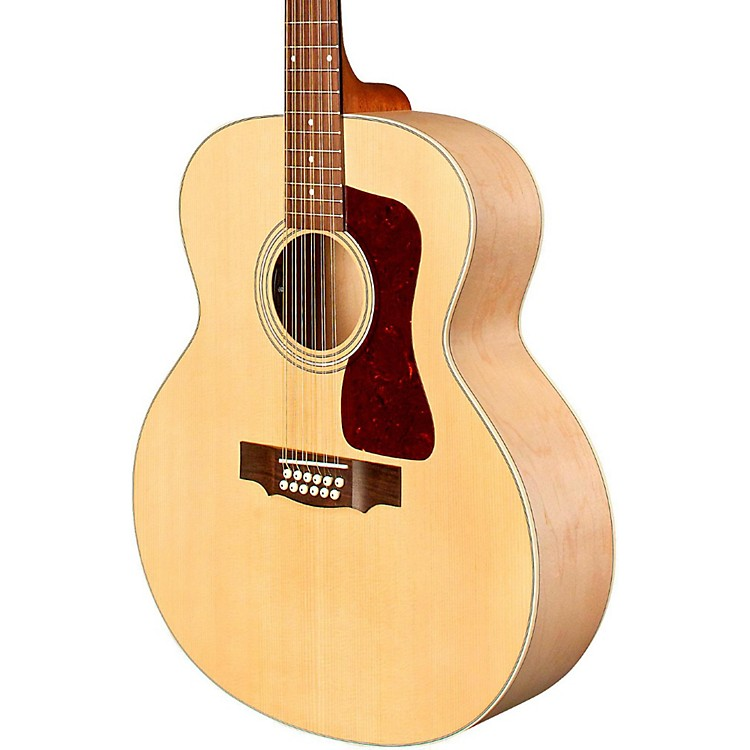 Guild F-2512E Jumbo Acoustic-Electric Guitar Natural