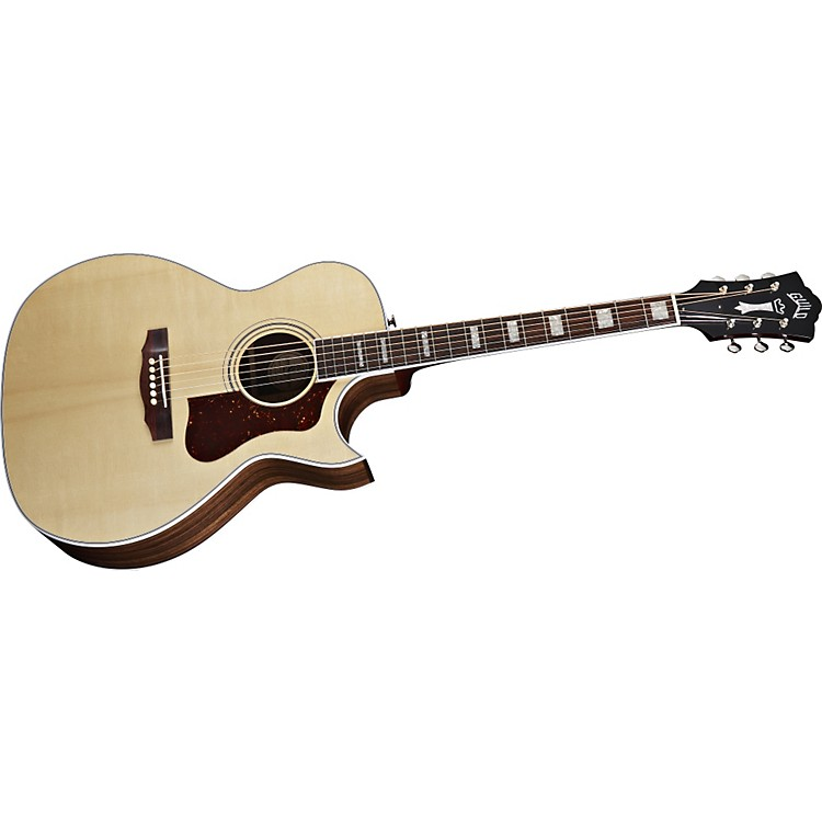Guild F-47RC Acoustic-Electric Guitar with DTAR Multi-Source Pickup System Natural