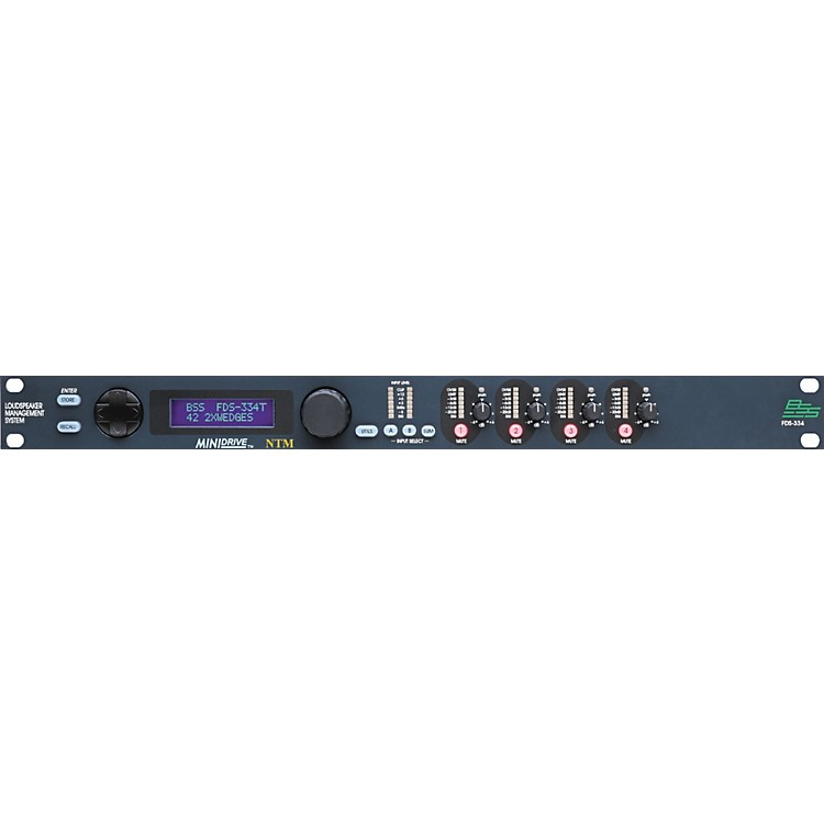BSS AudioFDS-334T Minidrive Loudspeaker Management System 2x4