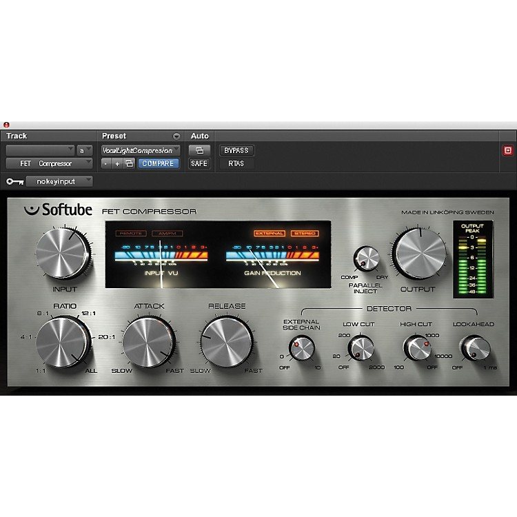 Softube FET Compressor NATIVE Plug-In Software - Software Download Digital Download