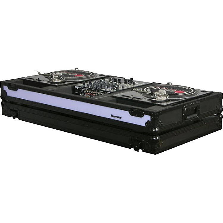 Odyssey FFXBM12WBL DJ Coffin For Two Turntables In Battle Mode and 12