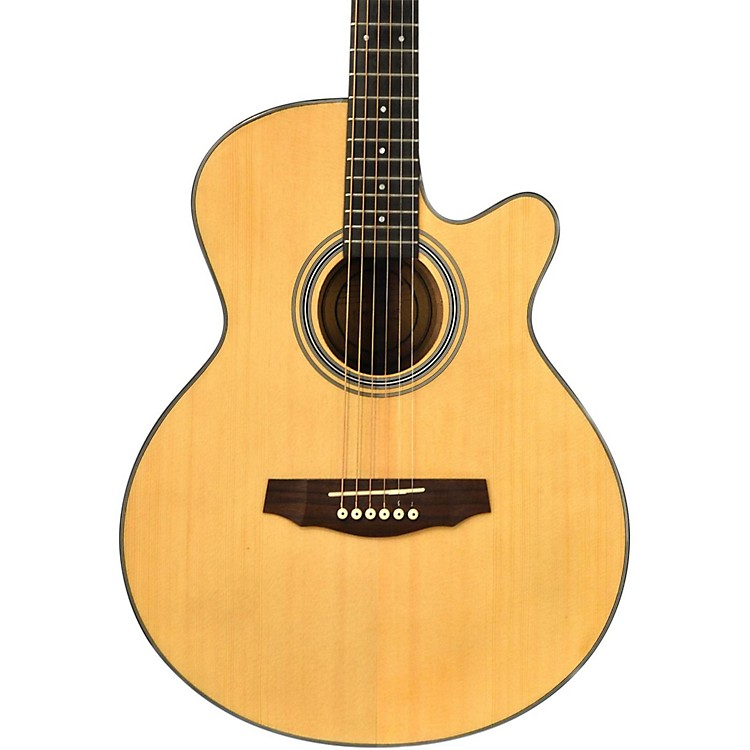 FretlightFG-5 Acoustic-Electric Guitar with Built-In Lighted Learning SystemNatural
