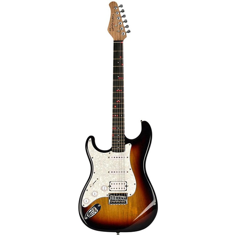 Fretlight FG-521  Left-Handed Electric Guitar with Built-in Lighted Learning System Sunburst