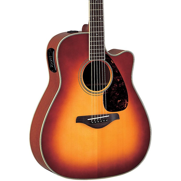 YamahaFG Series FGX720SCA Acoustic-Electric GuitarBrown Sunburst