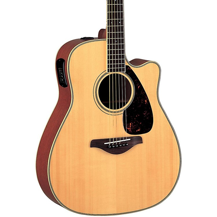 Yamaha FG Series FGX720SCA Acoustic-Electric Guitar Natural