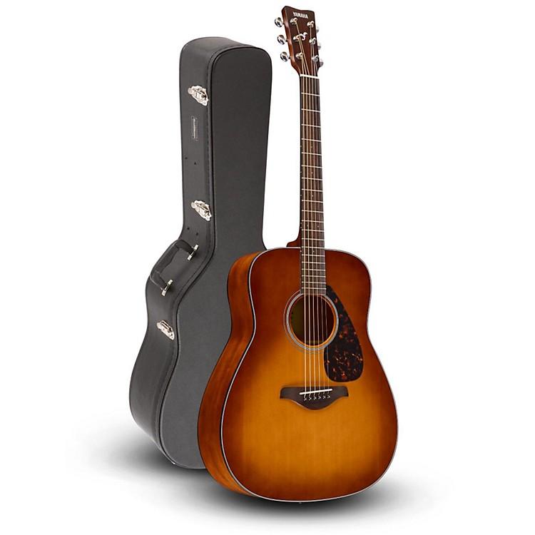 YamahaFG800 Folk Acoustic Guitar Sand Burst with Road Runner RRDWA Case