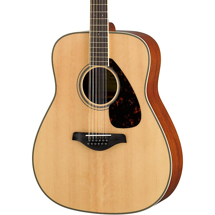 Yamaha FG820-12 Dreadnought 12-String Acoustic Guitar Natural