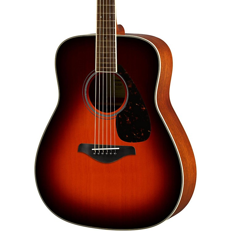 Yamaha FG820 Dreadnought Acoustic Guitar Brown Sunburst