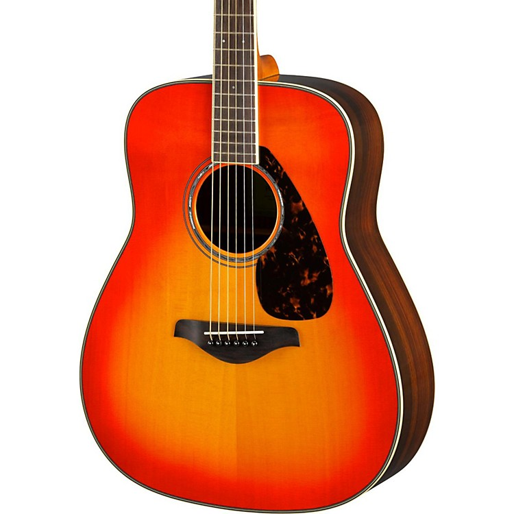 Yamaha FG830 Dreadnought Acoustic Guitar Autumn Burst