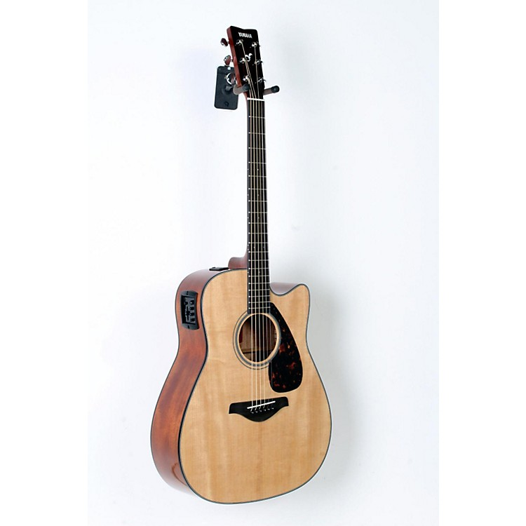 Yamaha FGX700SC Solid Top Cutaway Acoustic-Electric Guitar Natural 888365772608