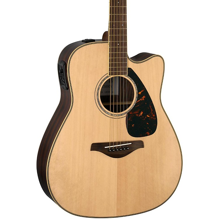 Yamaha FGX730SC Solid Top Acoustic-Electric Guitar Natural