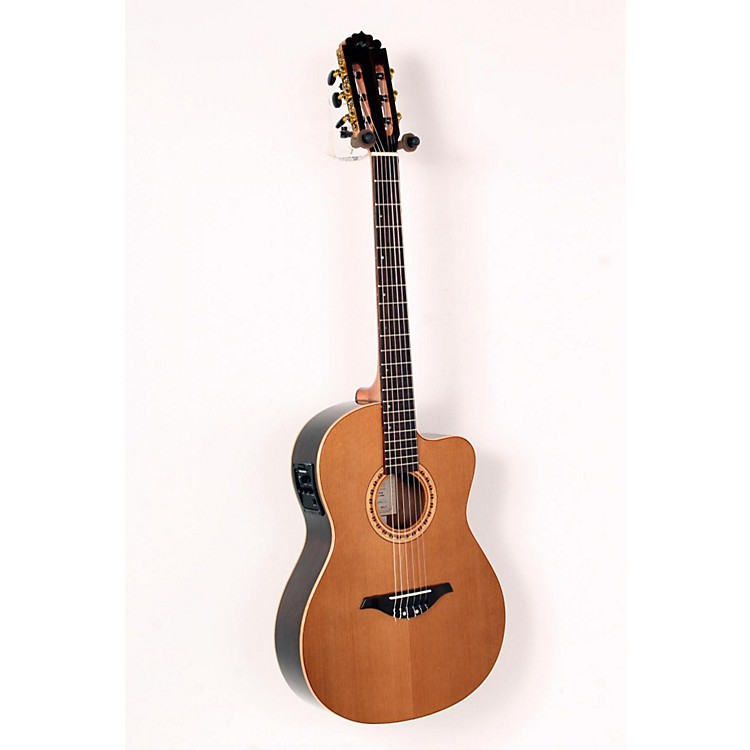 Manuel Rodriguez FLMOD500 Flamenco Moderna Acoustic-Electric Nylon String Natural.,  Walnut B and S, Solid Cedar Top 888365663531