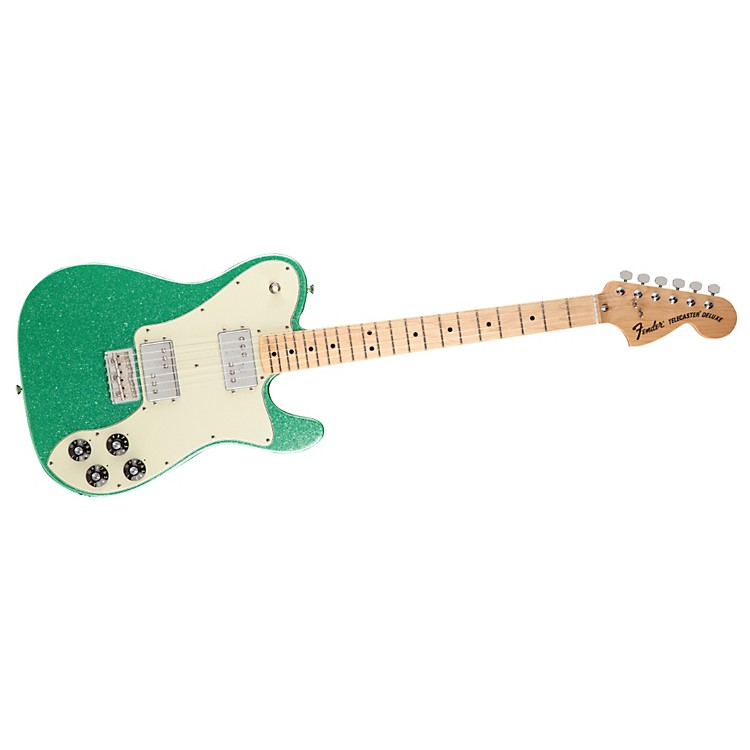 Fender FSR 1972 Telecaster Deluxe Electric Guitar Surf Green Flake Maple Fingerboard