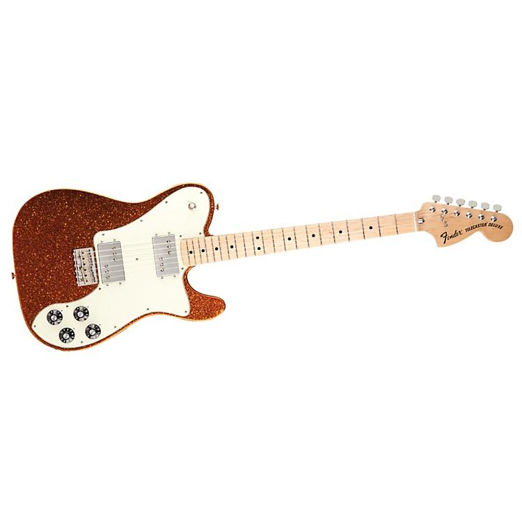 FenderFSR 1972 Telecaster Deluxe Electric GuitarSunfire Orange FlakeMaple Fingerboard