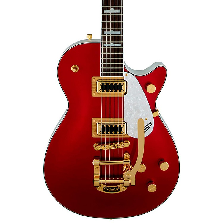 Gretsch GuitarsFSR Two-Tone Electromatic Pro Jet with Bigsby Electric GuitarCandy Apple Red and White