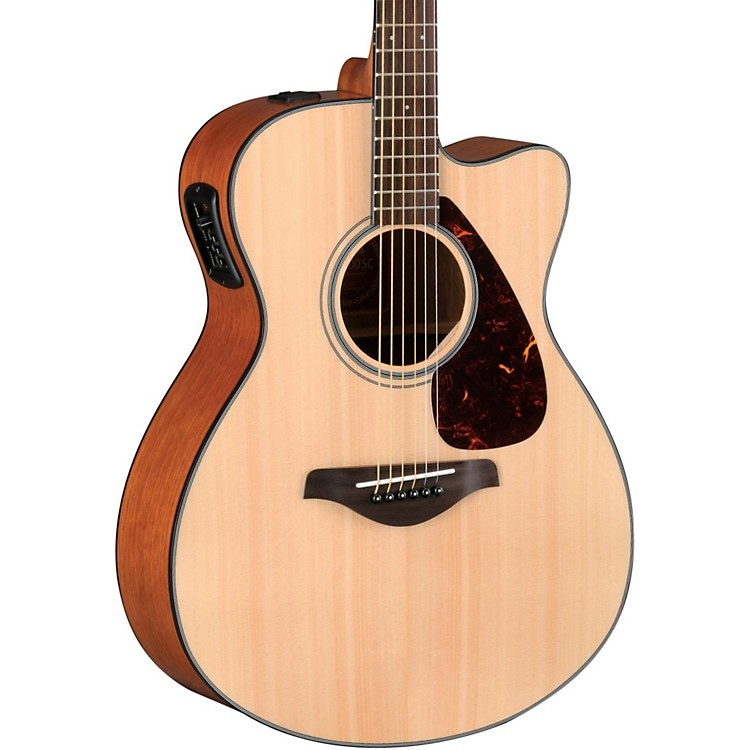 Yamaha FSX700SC Solid Top Concert Cutaway Acoustic-Electric Guitar Natural