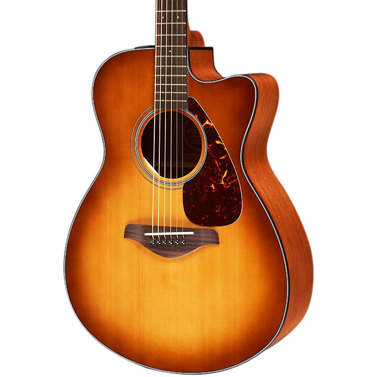 Yamaha FSX700SC Solid Top Concert Cutaway Acoustic-Electric Guitar Sandburst