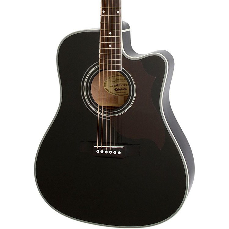 EpiphoneFT-350SCE Acoustic-Electric Guitar with Min-EtuneEbony