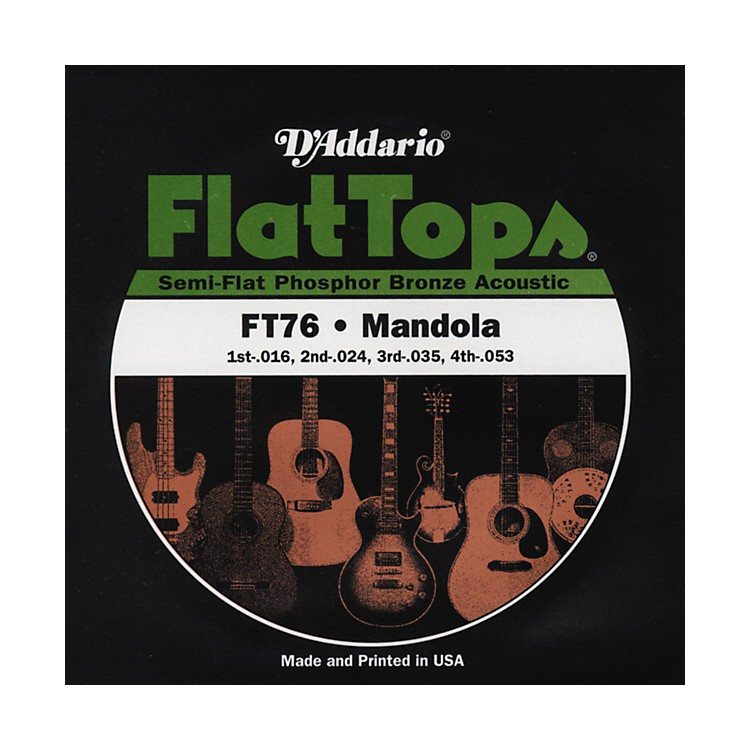 D'Addario FT76 Flat Top PB Mandola String Set