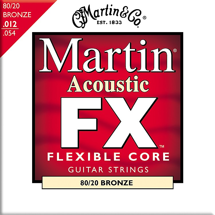 Martin FX640 Light 80/20 Bronze Acoustic Guitar Strings