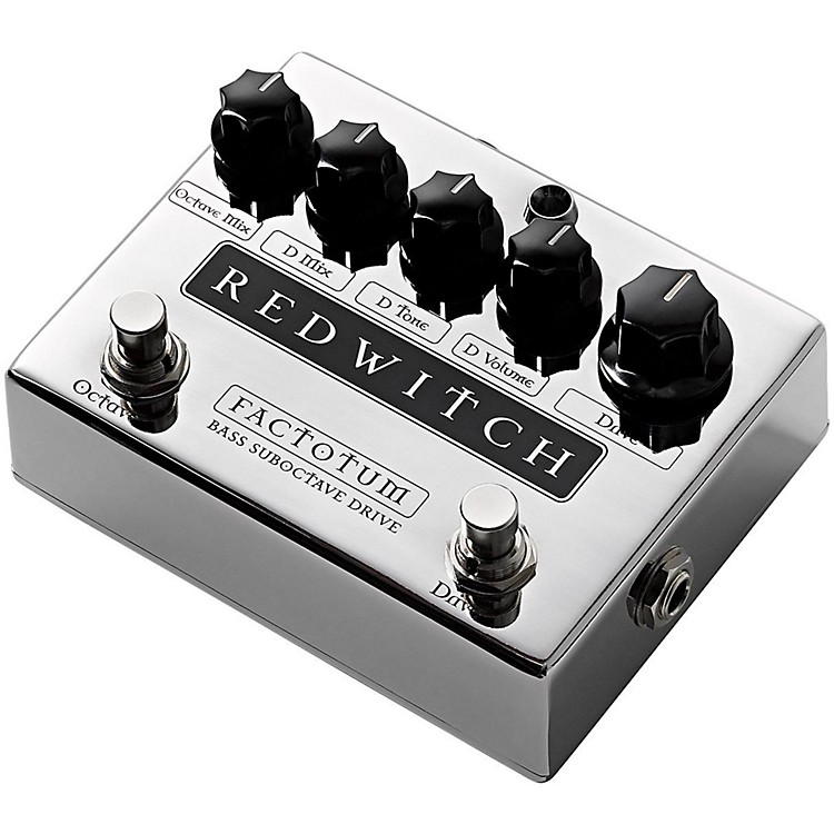 Red WitchFactotum Bass Suboctave Overdrive Guitar Effects Pedal