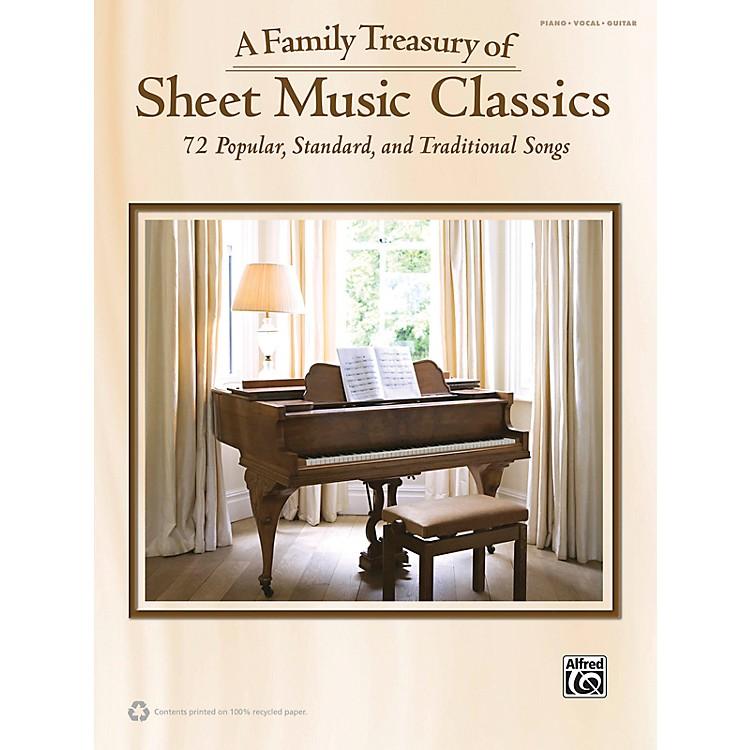 AlfredFamily Treasury of Sheet Music Classics Book