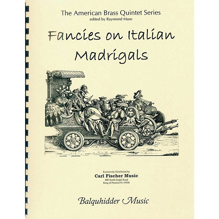 Carl Fischer Fancies on Italian Madrigals Book