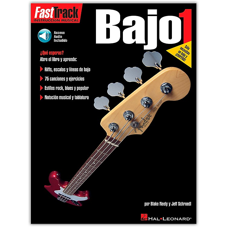 Hal Leonard Fast Track Method Bajo 1 Spanish Edition (Book/CD)