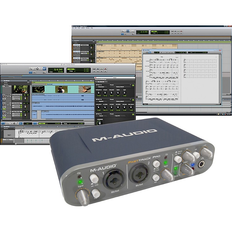 M-AudioFast Track Pro Mobile USB Interface with Pro Tools SE